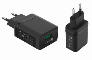 Сетевое зарядное устройство MR30m 5V/3.1A 1USB + micro USB 1,2m (быстрая зарядка QC3.0)