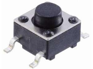 Кнопка тактовая SMD 6 х 6 х 9.5 (шток 6 мм) 4c