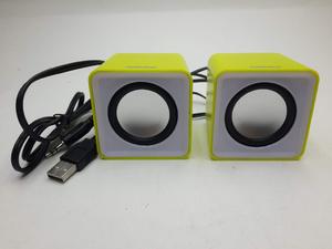 Колонки мультимедийные SmartBuy MINI, мощность 4Вт, USB, желтые(SBA-2820)/80