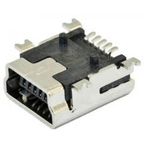 Гнездо mini USB под пайку на плату (поверхносный монтаж)