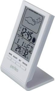 """Часы-метеостанция Perfeo """"Angle"""", белый, время, температура, влажность, дата (PF-S2092) PF_A4855"""