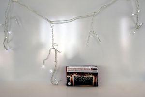 Гирлянда-бахрома 18038А, 100LED, белый цвет, с контроллером