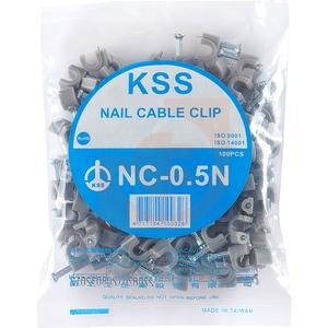 Крепёжная скоба для кабеля UTP  5х7.6 мм (100шт в упаковке)