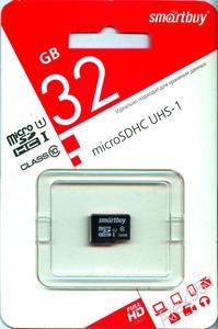 Smart Buy micro SDHC 32GB Class10 UHS-I (без адаптеров)