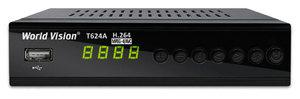 Ресивер DVB-T2 World Vision T624A, металл