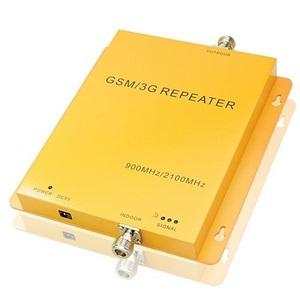 Репитер GSM/3G, 900/2100, Усиление на вход: 55 дБ, на выходе: 60 дБ, мощность: UpLink 23dBm, DownLink 27 dBm, площадь покрытия: 500-1000 м2.