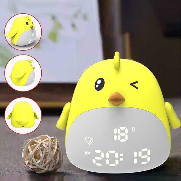 Часы-ночник настольные детские (будильник, температура, дата), OT-CLT07