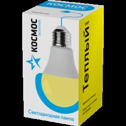Лампа светодиодная КОСМОС А60 11W 220V E27 3000K