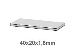 Магнит P 40x20x1,8 N35