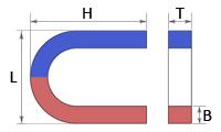 Магнит U30×30×8×7mm