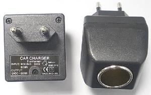 Адаптер сетевой (вход 220В, выход гнездо прикуривателя 12В)