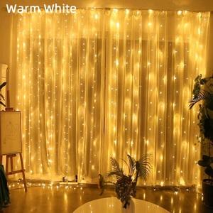 Огонек OG-LDG09 гирлянда-штора LED (3х3м,300 ламп,белая-теплая)