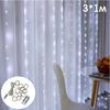 Огонек OG-LDG10 гирлянда-штора LED (3х1м,100 ламп,белая-холодная), теплый свет