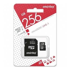 Smart Buy micro SDXC 256GB Class10 UHS-I (с адаптером SD)