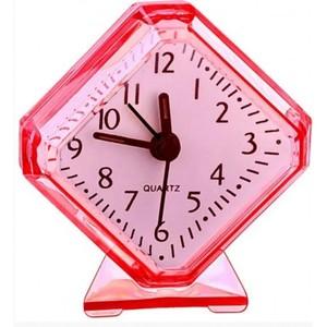 """Часы-будильник Quartz Perfeo """"PF-TC-002"""", ромб. 7,5*8,5 см, белые PF_C3090"""