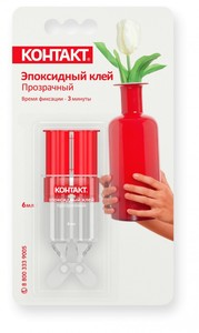 "Эпоксидный клей ""КОНТАКТ"", прозрачный, 6 мл., бл.,арт.КЭ 288 - Б06 ШП"
