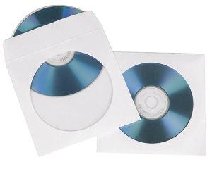 Конверт бумажный с окном для CD/DVD дисков