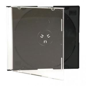 Коробки для  дисков 1CD  (slim черный) Тайвань
