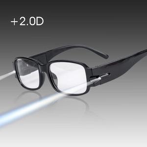 Черные очки увеличительные с подсветкой (+2.0) OT-INL71