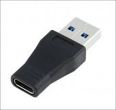 Переходник PERFEO USB3.0 A вилка - USB Type-C розетка (А7021)