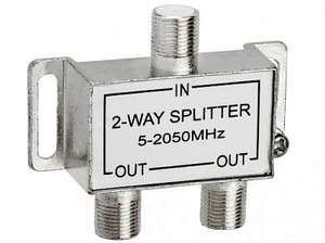 ДЕЛИТЕЛЬ SAT 1ВХ-2 ВЫХ 5-2500 МГц (С ПРОХОДОМ ПО ПИТАНИЮ)