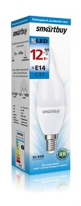 Светодиодная (LED) Лампа Smartbuy-C37-12W/6000/E14