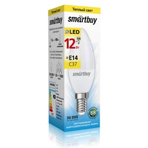 Светодиодная (LED) Лампа Smartbuy-C37-12W/3000/E14