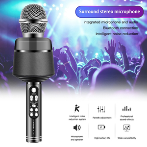 Черный RGB микрофон (Bluetooth, динамики, USB), OT-ERM10