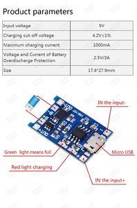 Модуль заряда TP4056 18650 Micro usb