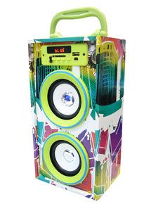 Колонка портативная с BLUETOOTH MP3(2*5W, TF, bluetooth, аккум.)